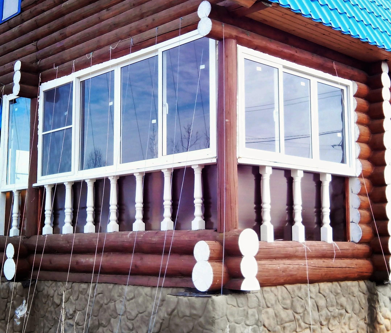 Установка пластиковых раздвижных окон на веранде, г. Клин.